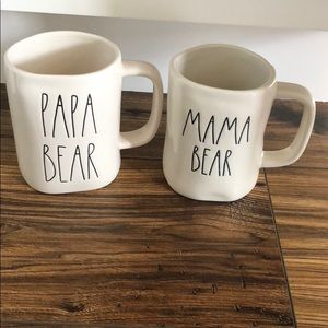 Rae Dunn mama bear and papa bear mug